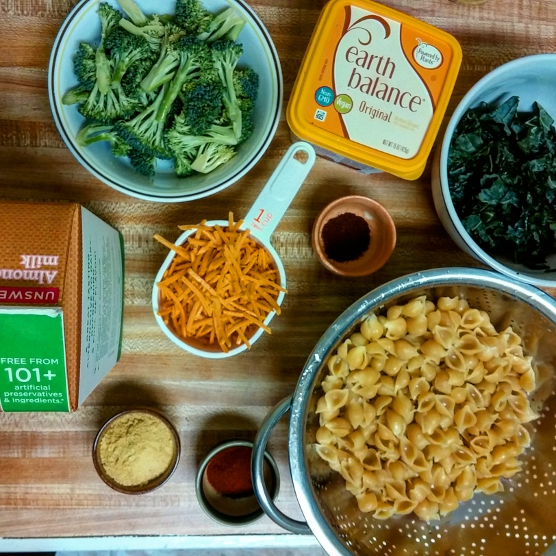 Vegan mac n Cheeze ingredients