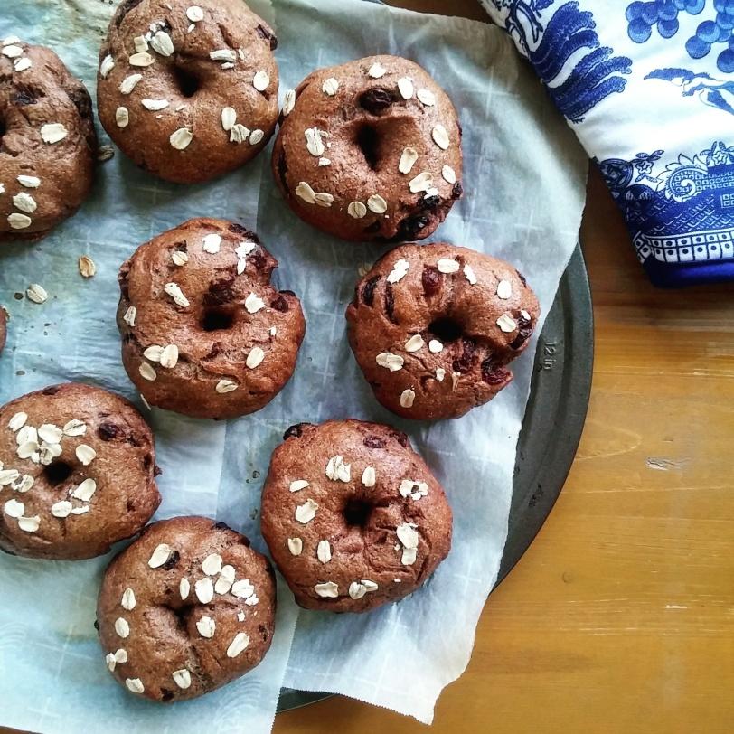Vegan Cinnamon Raisin Bagels